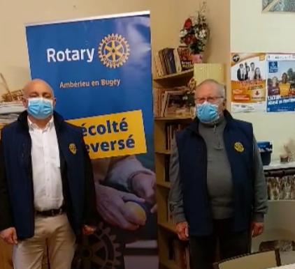 """""""Servir d'abord"""" c'est la devise du Rotary mise en oeuvre par notre club à la section du Secours Catholique de Montluel"""