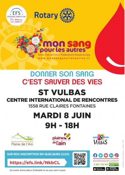 Journée DON du SANG organisée pour la 1ere fois à l'initiative de notre club, avec le concours de l'EFS